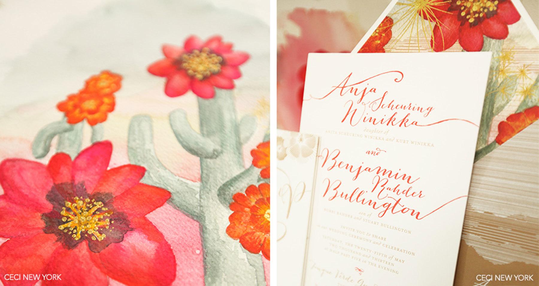 Desert Flowers Invitations