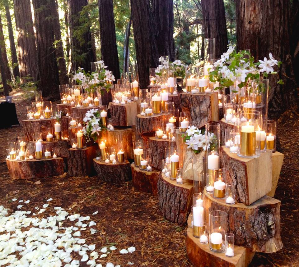 Woodland Ceremony Decor