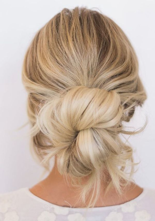 Wedding knot hairstyle