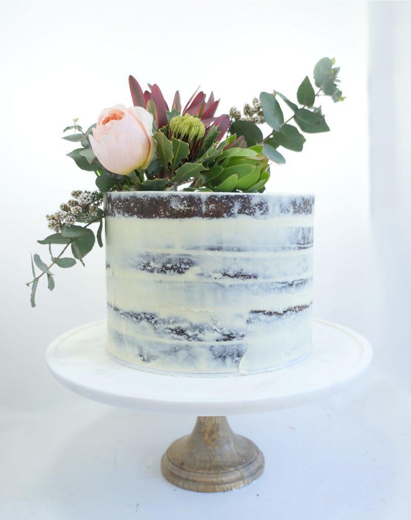 Succulent Semi-Naked Cake