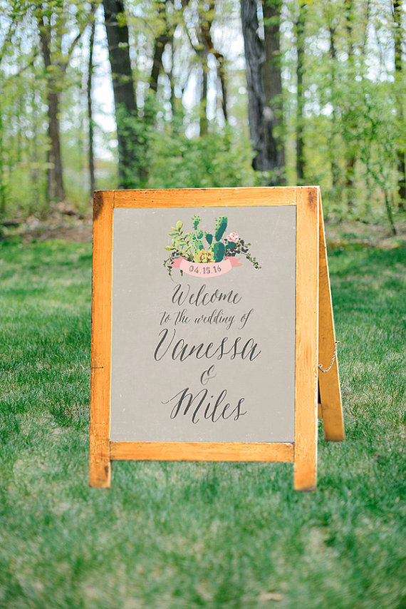 Desert Welcome Wedding Sign