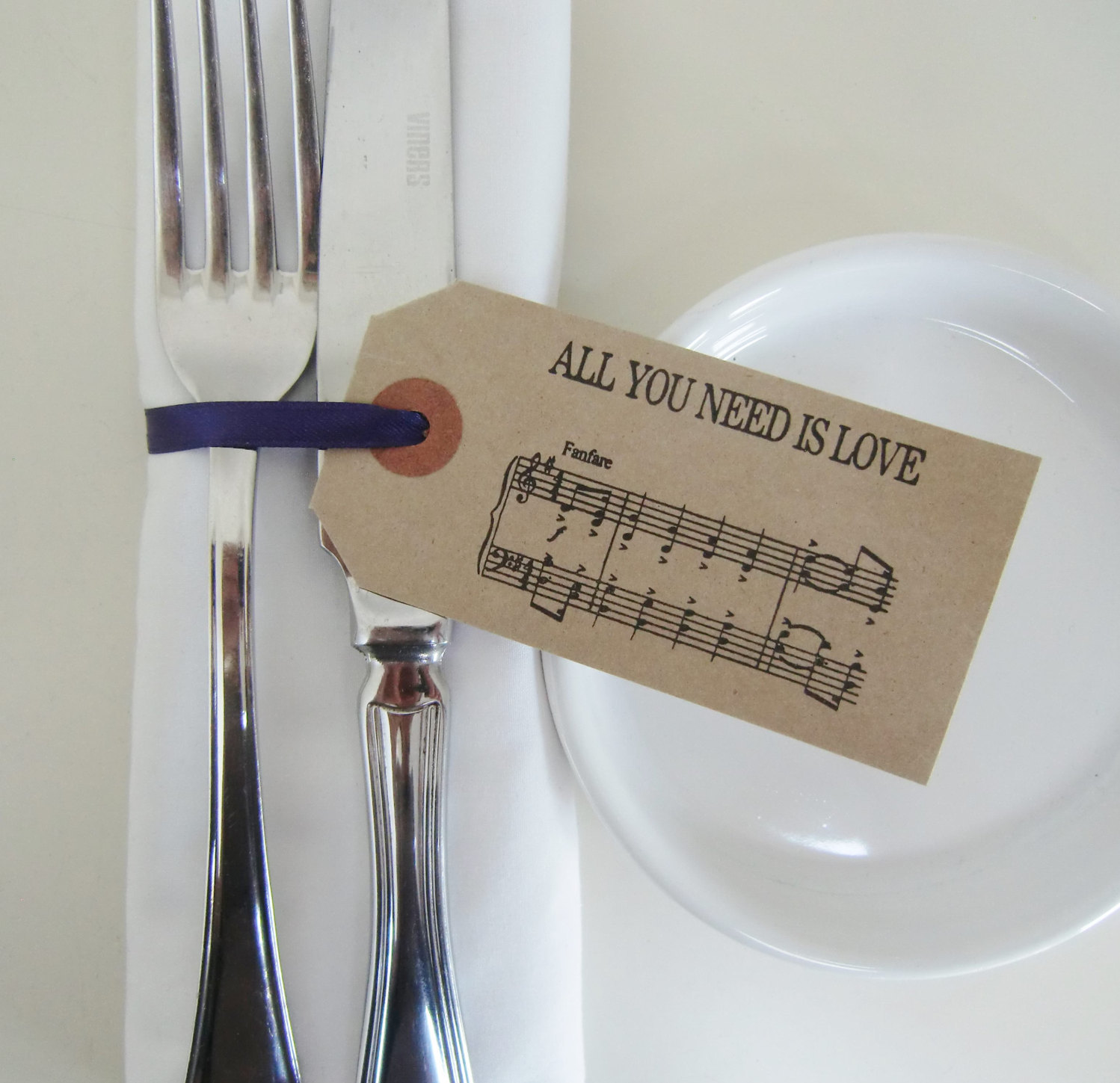 Music wedding napkin rings