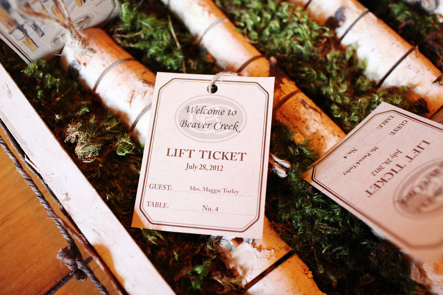 Mountain Wedding Escort Cards by Four13Designs