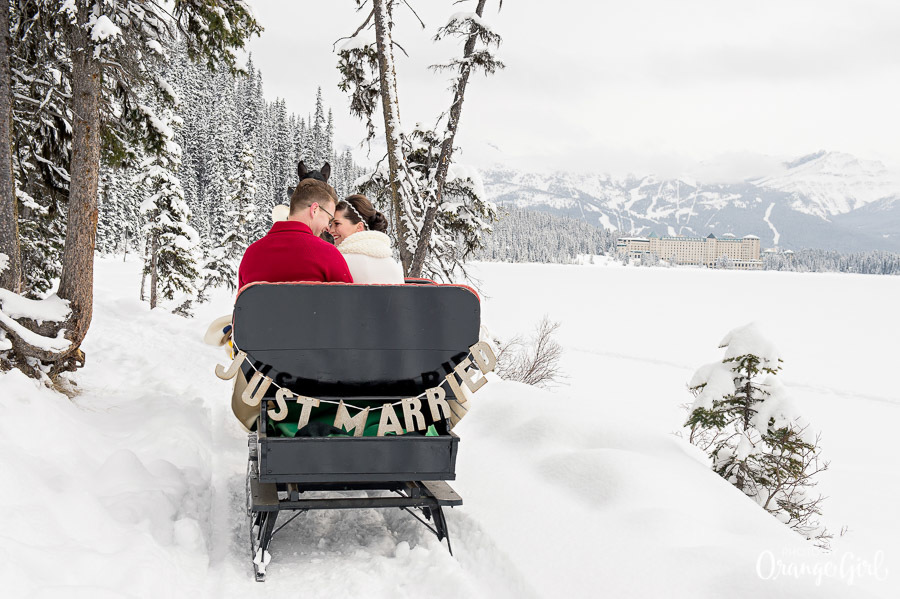 Mountain Wedding Exit by Orange Girl Photography