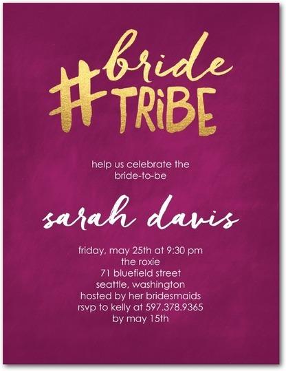 Bride Tribe Party Invitations