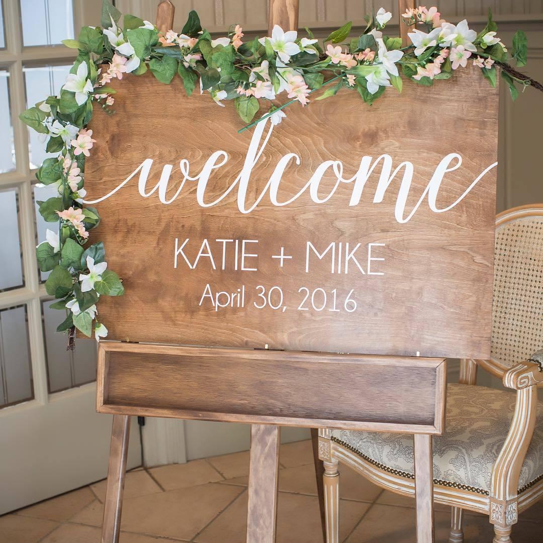 Custom Welcome Board