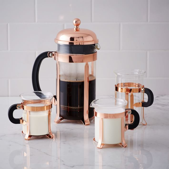 Copper coffee set from West Elm