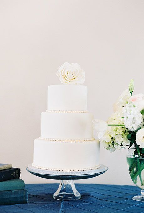 Classic White Rose Floral Topper