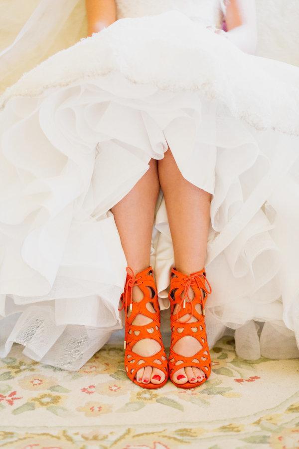 organge wedding shoes