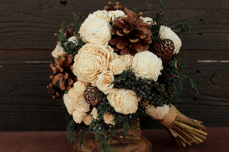 Woodland rose bouquet