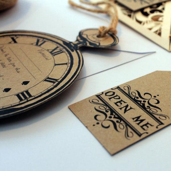 Wonderland inspired gift tags