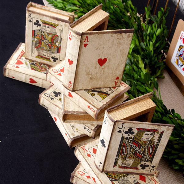 card covered boxes