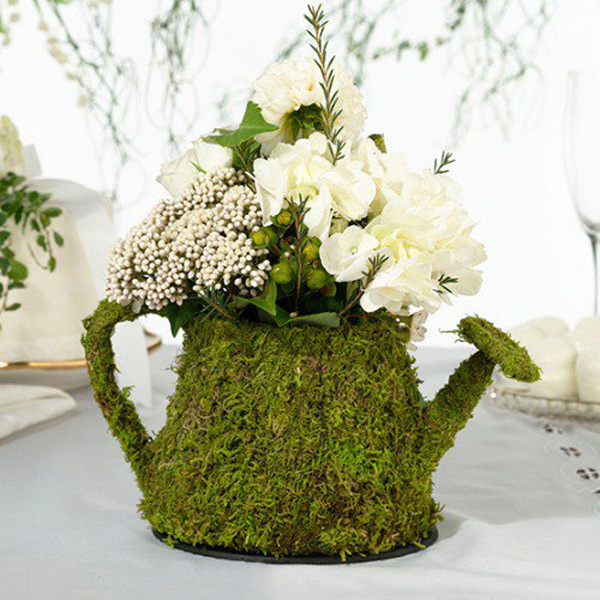 mossy floral centerpiece
