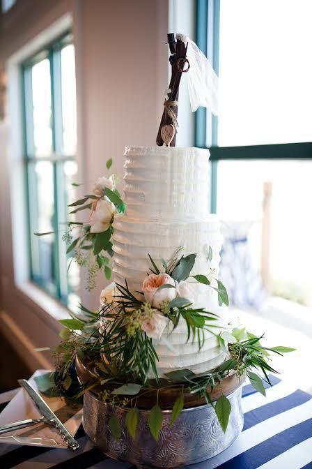 wooden cake topper cake