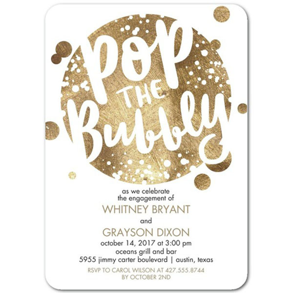 Bubbly Affair Engagement Cards