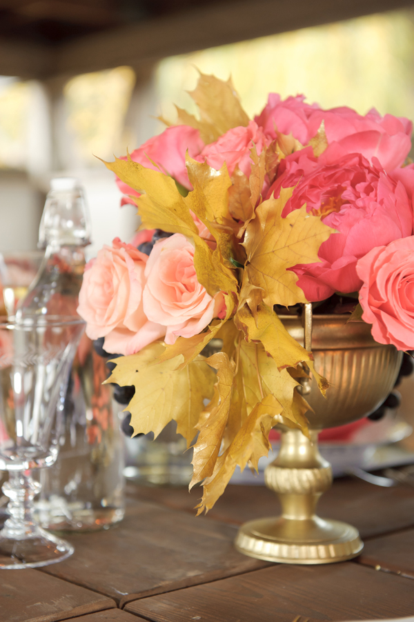 pink fall centerpiece