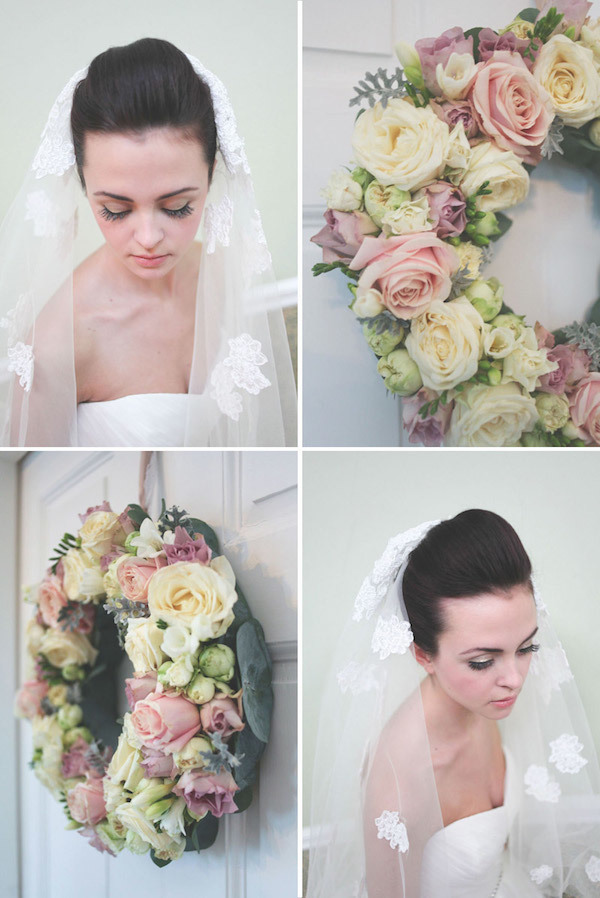 Rose wedding wreath