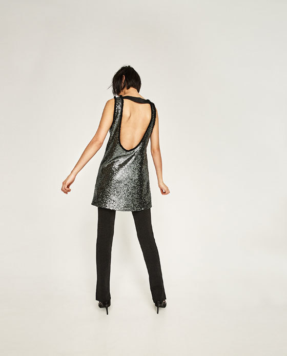 sequin low back dress