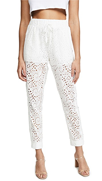 KENDALL + KYLIE Broderie Anglaise Pants