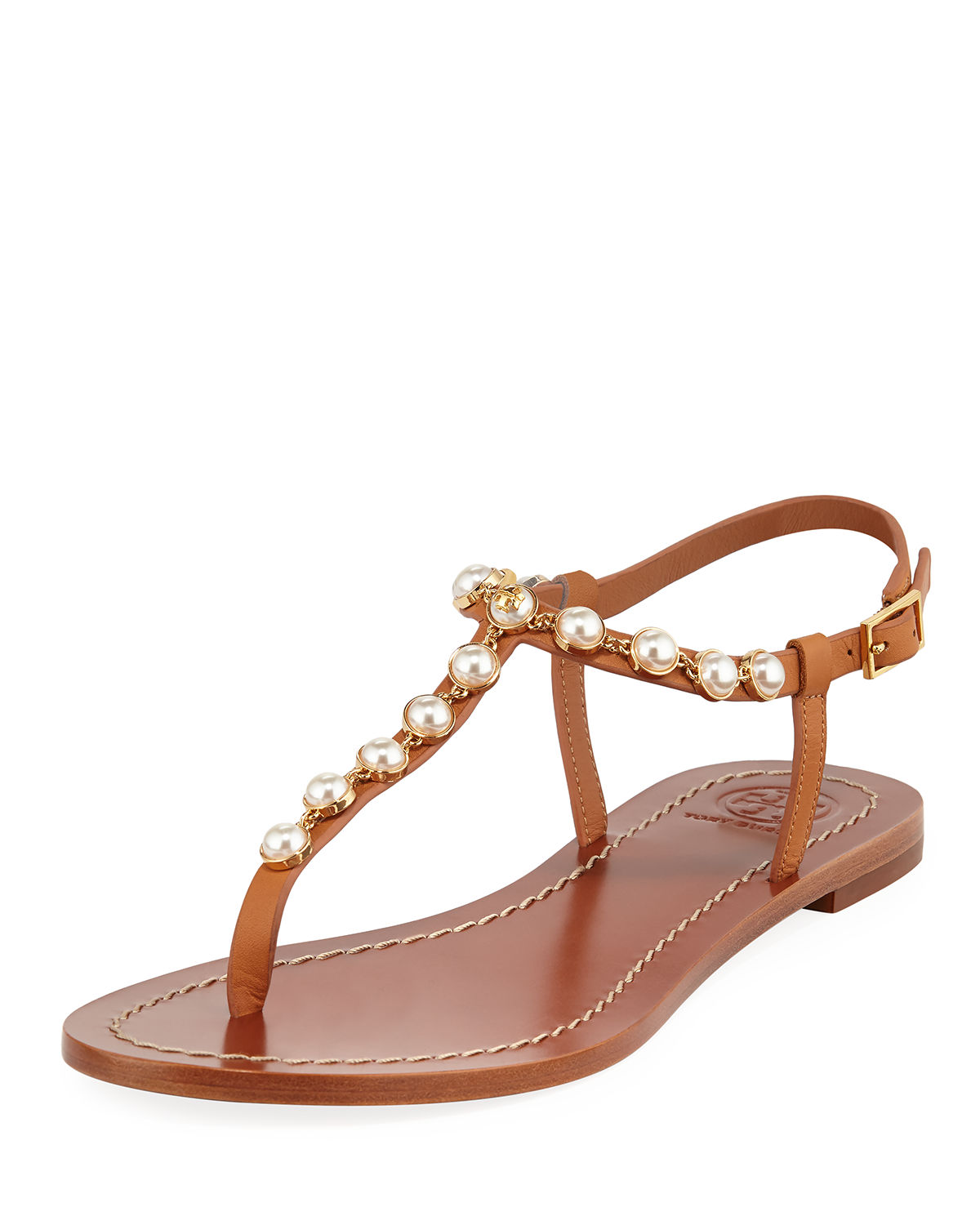 Tory Burch Emmy Pearly Beaded Sandals