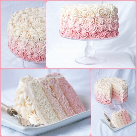 Ombre rose wedding cake DIY tutorial