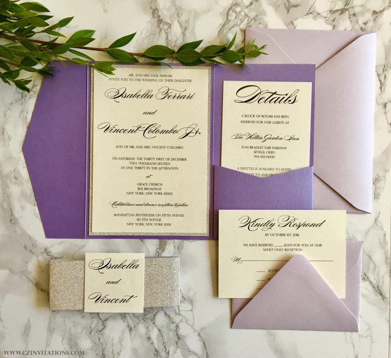 Elegant Purple Invites