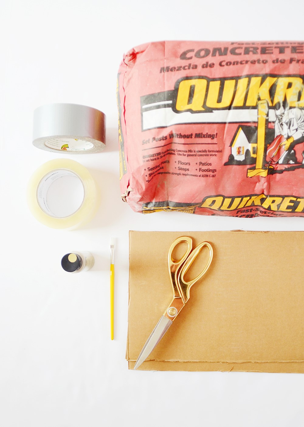 Concrete DIY - supplies