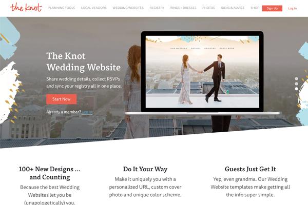 The Knot Wedding Website