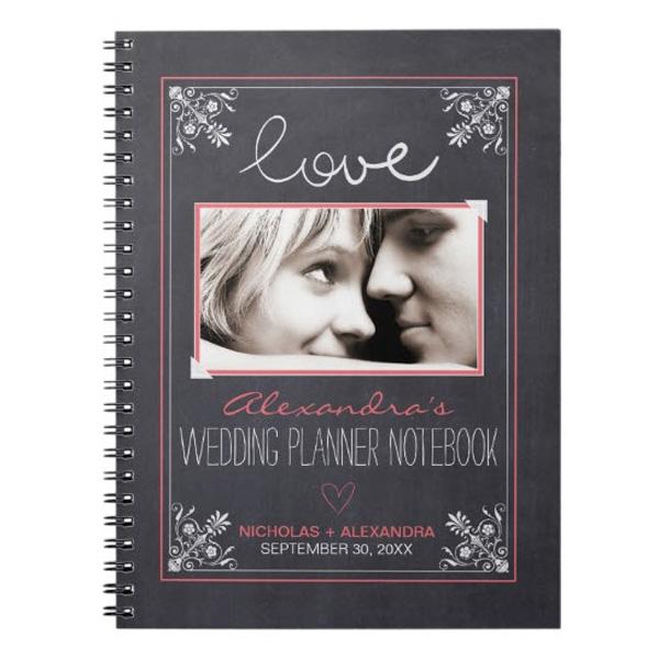Chalkboard Bride Wedding Planner Notebook