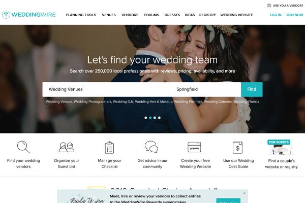 Wedding Wire Website